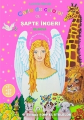Carte de colorat cu sapte ingeri - Coloring book with seven angels